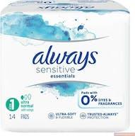 Always Maandverband Sensitive Essentials Normal 14 Stuks