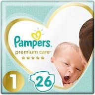 Pampers Premium Care Luiers Maat 1 - 26 Luiers