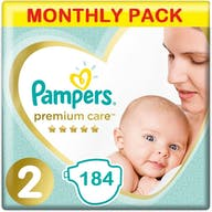 Pampers Premium Care Luiers Maat 2 - 184 Luiers Maandbox