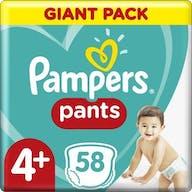 Pampers Baby Dry Pants Maat 4+ - 58 Luierbroekjes