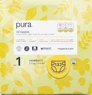 Pura Eco-Friendly Luiers Maat 1 (2-5 kg) - 132 luiers