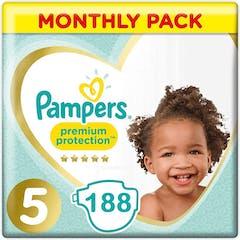 Pampers Premium Protection Luiers Maat 5 - 188 Luiers Maandbox