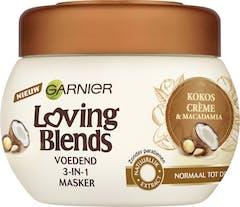 Garnier Loving Blends 3 in 1 Haarmasker Kokoscrème & Macadamia