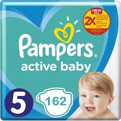 Pampers Active Baby Maat 5 - 162 Luiers Maandbox