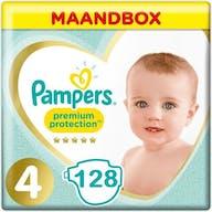 Pampers Premium Protection Luiers Maat 4 - 128 Luiers Maandbox