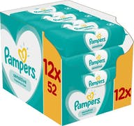 Pampers Sensitive Babydoekjes - 12x52 doekjes