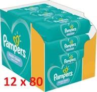 Pampers Billendoekjes Fresh Clean 12 x 80 Stuks Voordeelverpakking