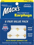 Macks pillow soft silicone ohrenstopsel 6 paar