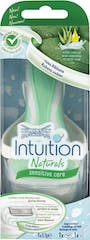 Wilkinson Intuition Naturals Sensitive Care Houder +2 scheermesjes
