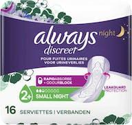 Always Discreet Maandverband Night Small Plus 16 stuks