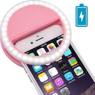 Selfie licht rosa