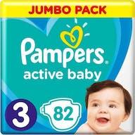 Pampers Active Baby Windeln Große 3 - 82 Windeln