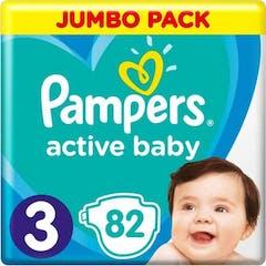 Pampers Active Baby Maat 3 - 82 Luiers Maandbox