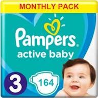 Pampers Active Baby Maat 3 - 164 Luiers Maandbox
