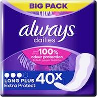 Always Dailies Inlegkruisjes Extra Protect Long Plus 40 Stuks