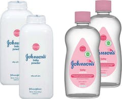 Johnson's Baby Babyolie &  Talc Poeder Voordeel Pakket