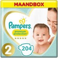 Pampers Premium Protection Luiers Maat 2 - 204 Luiers Maandbox