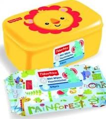 Fisher Price Leeuw Billendoekjes + Box