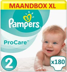 Pampers Procare Premium Protection Maat 2 - 180 Luiers Maandbox XL