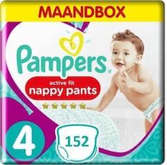 Pampers Premium Protection Active Fit Pants Maat 4 - 152 Luierbroekjes Maandbox
