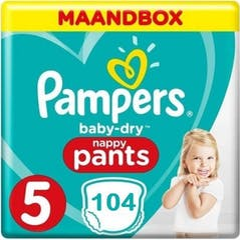 Pampers Baby Dry Pants Maat 5 - 104 Luierbroekjes Maandbox