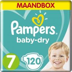 Pampers Baby Dry Maat 7 - 120 Luiers Maandbox
