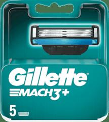 Gillette Mach 3+ Scheermesjes 5 Stuks