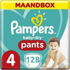 Pampers Baby Dry Nappy Pants Maat 4 -128 luierbroekjes Maandbox