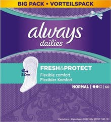 Always Inlegkruisjes Dailies Fresh & Protect Normal 60 Stuks