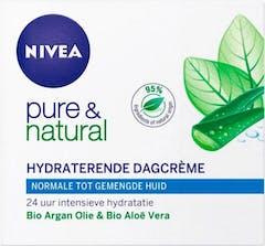 NiveaDagcrème 50 ml Visage Pure&Natural Normale/Gemiddelde Huid