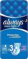 Always Maandverband Maxi Night Protection 16 Stuks