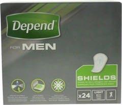 Depend For Men Shields - 24 Stuks