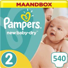 Pampers New Baby-Dry Maat 2 - 540 Luiers Maandbox