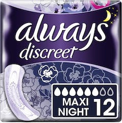 Always Discreet Maandverband Night