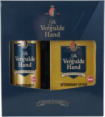 Vergulde Hand Scheerschuim + Aftershave Lotion Geschenkset