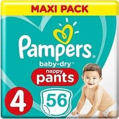 Pampers Baby Dry Pants maat 4 - 56 Luierbroekjes