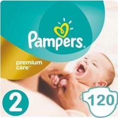 Pampers Premium Care Maat 2 - 120 Luiers (6 x 20 Luiers) Voordeelverpakking