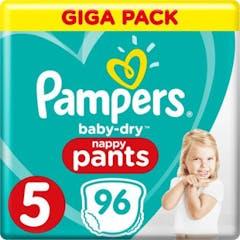 Pampers Baby Dry Nappy Pants Maat 5 - 96 Luierbroekjes Voordeelverpakking
