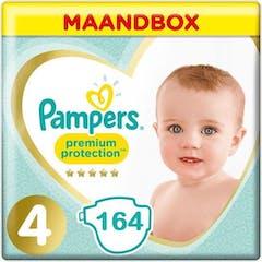 Pampers Premium Protection Maat 4 - 164 Luiers Maandbox