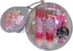 Hello Kitty Cadeauset Lipgloss Duo + Sleutelhanger