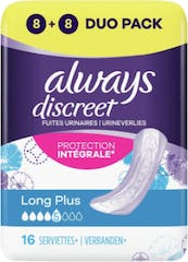 Always Discreet Verband Long Plus 16 Stuks