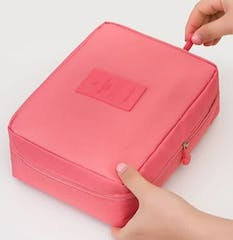 Pink Travel Toiletbag - Reis Toilet Bag Make Up Organizer - Cosmetica Etui Tasje