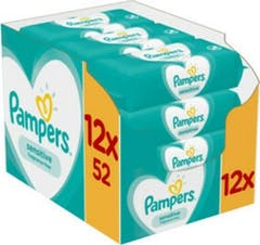 Pampers Sensitive Billendoekjes 12x52