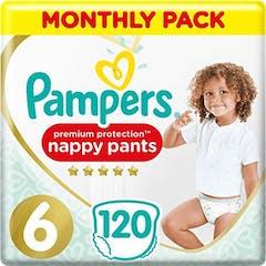Pampers Premium Protection Pants Maat 6 - 120 Luierbroekjes Maandbox