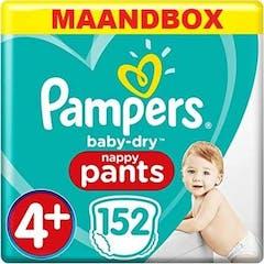 Pampers Baby Dry Pants Maat 4+ - 152 Luierbroekjes