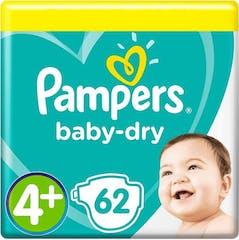 Pampers Baby Dry Maat 4+ - 62 Luiers