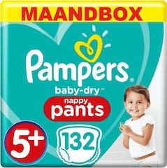 Pampers Baby Dry Pants Maat 5+ - 132 Luierbroekjes Maandbox