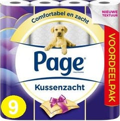 Page Toiletpapier Kussenzacht 9 Rollen