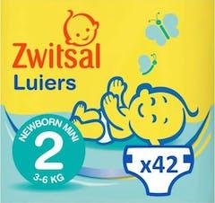 Zwitsal Luiers Newborn Mini Maat 2 - 42 Luiers