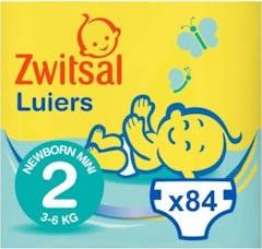 Zwitsal Luiers Newborn Mini Maat 2 - 84 Luiers